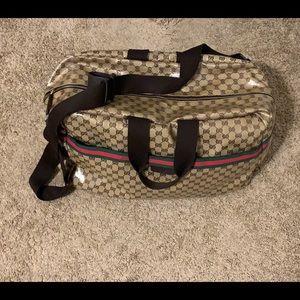 Gucci Crystal  Duffle Travel bag w/ dust bag!